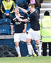 JAMIE WALKER (RIGHT) CELEBRATES AFTER HE SCORES RAITH'S FOURTH
