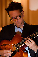 Melbourne, August 6, 2018 - James Sherlock perfoms at a Jazz night at Philippe Restaurant in Melbourne, Australia. Photo Sydney Low