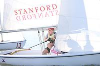 23 October 2007: Leigh Hammel and Sarah Schoknecht during sailing practice in Redwood Shores, CA.
