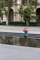 Brunnen am Kossuth Lajos tér in Budapest, Ungarn