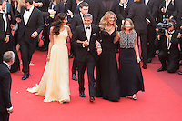 Amal Clooney, actors George Clooney and Julia Roberts and producer Jodie Foster - CANNES 2016 - MONTEE DES MARCHES DU FILM 'MONEY MONSTER'