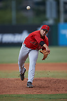 Relief pitcher Chase Chaney (53), of the AZL Angels, during an Arizona League game against the AZL Padres 1 on August 5, 2019 at Tempe Diablo Stadium in Tempe, Arizona. AZL Padres 1 defeated the AZL Angels 5-0. (Zachary Lucy/Four Seam Images)