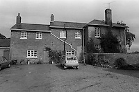 Pix: Copyright Anglia Press Agency/Archived via SWpix.com. The Bamber Killings. August 1985. Murders of Neville and June Bamber, daughter Sheila Caffell and her twin boys. Jeremy Bamber convicted of killings serving life...copyright photograph>>Anglia Press Agency>>07811 267 706>>..White House Farm, Tolleshunt D'Arcy, Essex, venue of murders. no date..ref 0001 neg 16..