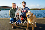 Enjoying a stroll in the Tralee Bay Wetlands on Sunday l to r: Lexie and Bell the dogs with Katy O'Connell and Eoin Farrell.