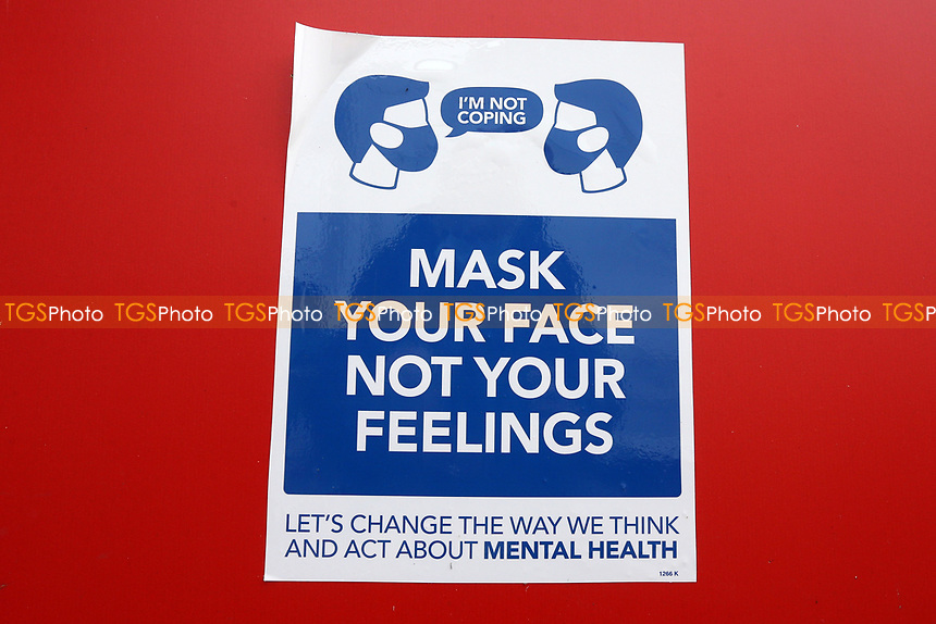 Mask Your Face Not Your Feelings sign ahead of Essex CCC vs Nottinghamshire CCC, LV Insurance County Championship Group 1 Cricket at The Cloudfm County Ground on 4th June 2021