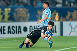 Shanghai FC Goalkeeper Yan Junling in action during the AFC Champions League 2017 Round of 16 match between Jiangsu FC (CHN) vs Shanghai SIPG FC (CHN) at the Nanjing Olympic Stadium on 31 May 2017 in Nanjing, China. Photo by Marcio Rodrigo Machado / Power Sport Images