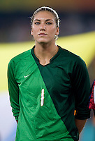 Hope Solo. The USWNT defeated Brazil, 1-0, to win the gold medal during the 2008 Beijing Olympics at Workers' Stadium in Beijing, China.