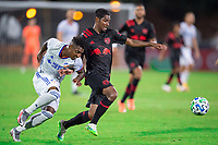 LAKE BUENA VISTA, FL - JULY 22: Jason Pendant #24 of the New York Red Bulls dribbles the ball during a game between New York Red Bulls and FC Cincinnati at Wide World of Sports on July 22, 2020 in Lake Buena Vista, Florida.