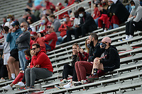 Arkansas fans watch Saturday, April 3, 2021, during a scrimmage at Razorback Stadium in Fayetteville. Visit nwaonline.com/210404Daily/ for today's photo gallery. <br /> (NWA Democrat-Gazette/Andy Shupe)