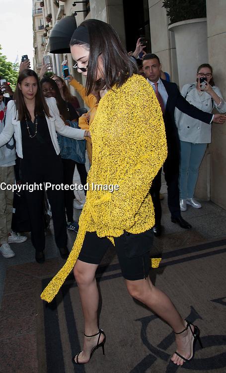 July 3 2017, PARIS FRANCE Kendal Jenner leaves the Georges V Hotel on Avenue Georges V