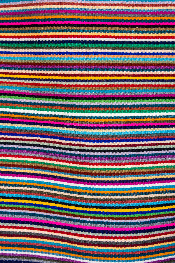 Santa Ana del Valle, Oaxaca; Mexico.  Hand-Woven Zapotec Indian Fabric, a Wall Hanging.