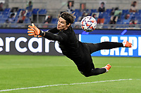 Marwin Hitz of Borussia Dortmund during the warm up prior to the Champions League Group Stage F day 1 football match between SS Lazio and Borussia Dortmund at Olimpic stadium in Rome (Italy), October, 20th, 2020. Photo Andrea Staccioli / Insidefoto