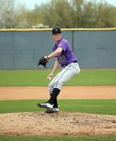 Gavin Hollowell - Colorado Rockies 2020 spring training (Bill Mitchell)