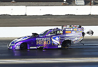 Feb 12, 2017; Pomona, CA, USA; NHRA funny car driver Jack Beckman during the Winternationals at Auto Club Raceway at Pomona. Mandatory Credit: Mark J. Rebilas-USA TODAY Sports