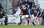 Jason Holt scores the opener for Hearts