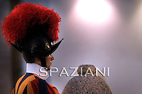 Pontifical Swiss Guard.The Corps of the Pontifical Swiss Guard or Swiss Guard,Guardia Svizzera Pontificia,responsible for the safety of the Pope, including the security of the Apostolic Palace. It serves as the de facto military of Vatican City..april 2010