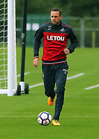 Pictured: Gylfi Sigurdsson in action. Tuesday 11 July 2017<br /> Re: Swansea City FC training at Fairwood training ground, UK