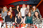Enjoying the evening out in Ristorante Uno on Saturday night.<br /> Seated l to r: Isobel Bailey, Danielle, Trish and Claire Goodall.<br /> Standing l to r: Tanya Kerins, Mary, Laura and Tanya Goodall, Anna Morrison and Meabh Goodall.