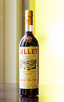 Lillet is an alcohol aperitif drink made from wine and spices herbs in Podensac Bordeaux