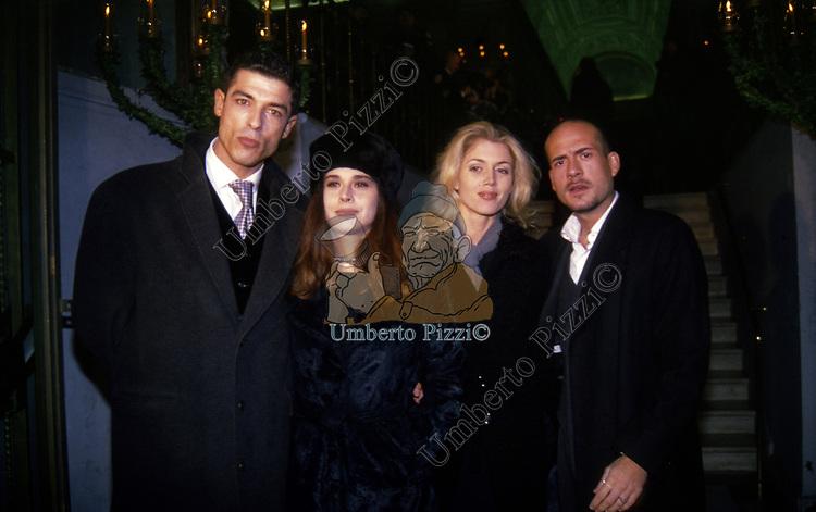 ALESSANDRO GASSMAN CON SABRINA KNAFLITZ E GIANMARCO TOGNAZZI<br /> PALAZZO BORGHESE ROMA 1997