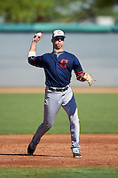 Cleveland Indians Nolan Jones (15) during an Instructional League game against the Los Angeles Dodgers on October 10, 2016 at the Camelback Ranch Complex in Glendale, Arizona.  (Mike Janes/Four Seam Images)