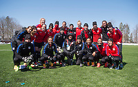 Hartford, CT - April 5, 2016: The USWNT trains in preparation for their friendly against Colombia.
