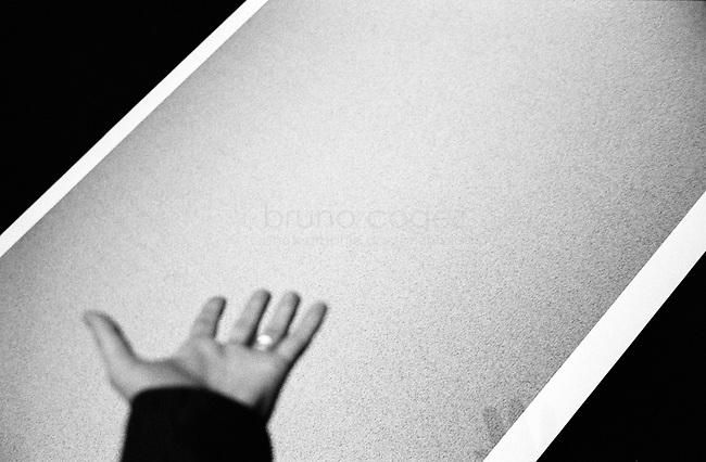 FRANCE, Paris, Le Laboratoire, Septembre 2008.Le Laboratoire présente pour la première fois en Europe, une exposition personnelle de l'artiste japonais Ryoji Ikeda, figure de la scène électronique sonore et visuelle. De ses échanges avec le mathématicien américain Benedict Gross, l'artiste inaugure une oeuvre où la définition du sublime s'accorde à l'immatérialité de l'infini. Tirages géants d'un nombre aléatoire et d'un nombre parfait de 10 millions de chiffres..FRANCE, Paris, Le Laboratoire, September 2011..Le Laboratoire presents, for the first time in Europe, a personal exhibition of the Japanese artist Ryoji Ikeda, a major figure of the sound and visual electronic scene. From his correspondence with the American mathematician Benedict Gross, he has conceived a work where the definition of the sublime blends with the immateriality of infinity. Print of a perfect number and a random number of 10 millions digits..© Bruno Cogez