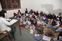 Madrasa Students in English Class, Madrasa Imdadul Uloom, Dehradun, India.