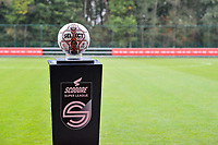 matchball pictured before a female soccer game between Standard Femina de Liege and Dames SV Zulte Waregem on the fifth matchday of the 2020 - 2021 season of Belgian Scooore Womens Super League , saturday 17 th of October 2020  in Angleur , Belgium . PHOTO SPORTPIX.BE | SPP | STIJN AUDOOREN