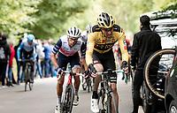 Tom Dumoulin (NED/Jumbo-Visma) up the final climb of the day; the Côte de la Roche aux Faucons<br /> <br /> 106th Liège-Bastogne-Liège 2020 (1.UWT)<br /> 1 day race from Liège to Liège (257km)<br /> <br /> ©kramon