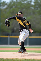 Pittsburgh Pirates pitcher Jason Creasy (48) during a minor league spring training game against the New York Yankees on March 22, 2014 at Pirate City in Bradenton, Florida.  (Mike Janes/Four Seam Images)