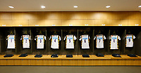 Photo: Richard Lane/Richard Lane Photography. Leinster Rugby v Wasps.  European Rugby Champions Cup Quarter Final. 01/04/2017. Wasps changing room set up.