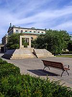 Holocaust-Mahnmal am Opernplatz in Hannover, Niedersachsen, Deutschland, Europa<br /> Holocaust-memorial at Opera Square in Hanover, Lower Saxony, Germany, Europe