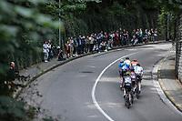 "Early break away group climbing the ""Keizersberg"" <br /> <br /> 51th GP Jef 'Poeske' Scherens 2017 <br /> Leuven - Leuven (13local laps/153.7km)"