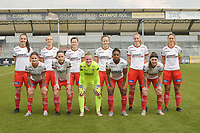 team of Zulte Waregem with Romy Camps (3) of Zulte Waregem   Ella Vierendeels (4) of Zulte Waregem   Summer Rogiers (8) of Zulte Waregem   Geena Lisa Buyle (13) of Zulte Waregem   Lotte De Wilde (19) of Zulte Waregem   Pauline Windels (5) of Zulte Waregem   Amber De Priester (6) of Zulte Waregem   Sheryl Merchiers (11) of Zulte Waregem   goalkeeper Ianthe Meerschaert (31) of Zulte Waregem   Esther Buabadi (24) of Zulte Waregem   Liesa Capiau (15) of Zulte Waregem   pictured during a female soccer game between Eendracht Aalst and SV Zulte Waregem on the fourth matchday of play off 2 of the 2020 - 2021 season of Belgian Scooore Womens Super League , Saturday 1 st of May 2021  in Aalst , Belgium . PHOTO SPORTPIX.BE | SPP | DIRK VUYLSTEKE
