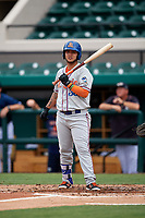 St. Lucie Mets designated hitter Jose Garcia (38) at bat during the first game of a doubleheader against the Lakeland Flying Tigers on June 10, 2017 at Joker Marchant Stadium in Lakeland, Florida.  Lakeland defeated St. Lucie 6-5 in fourteen innings.  (Mike Janes/Four Seam Images)