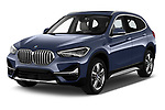 2020 BMW X1 X-Line 5 Door SUV Angular Front automotive stock photos of front three quarter view