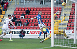St Johnstone v Hamilton Accies…26.10.19   McDiarmid Park   SPFL<br />David Wotherspoon misses the chance to score his hattrick<br />Picture by Graeme Hart.<br />Copyright Perthshire Picture Agency<br />Tel: 01738 623350  Mobile: 07990 594431