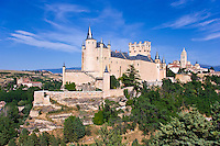 Alcazar and Catedral from SW, Segovia, Spain