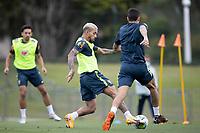 12th November 2020; Granja Comary, Teresopolis, Rio de Janeiro, Brazil; Qatar 2022 World Cup qualifiers; Douglas Luiz of Brazil during training session