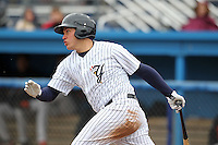 Empire State Yankees third baseman Brandon Laird #8 during a game against the Norfolk Tides at Dwyer Stadium on April 22, 2012 in Batavia, New York.  Empire State defeated Norfolk 6-5, the Yankees are playing all their games on the road this season as their stadium gets renovated.  (Mike Janes/Four Seam Images)