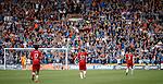 04.08.2019 Kilmarnock v Rangers: Scott Arfield salutes the Rangers fans