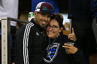 SAN JOSE, CA - AUGUST 24: Fans during a Major League Soccer (MLS) match between the San Jose Earthquakes and the Vancouver Whitecaps FC  on August 24, 2019 at Avaya Stadium in San Jose, California.