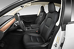 Front seat view of 2021 Tesla Model-Y Long-Range-AWD 5 Door SUV Front Seat  car photos