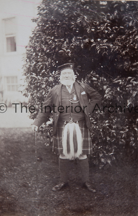 A Munro of the late 19th century sporting the traditional family kilt and sporran