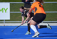Action from the premier women's Manawatu Hockey match between College A and Wanganui at Massey University in Palmerston North, New Zealand on Saturday, 24 July 2021. Photo: Dave Lintott / lintottphoto.co.nz