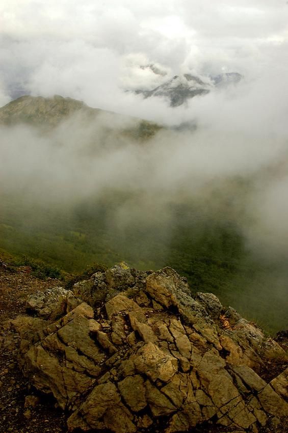 Atop Mount Baldy, Eagle River, Alaska.