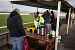 Holker Old Boys 2 Crook Town 1, 10/10/2020. Rakesmoor, FA Vase second round qualifying. The temporary refreshment stand dispenses tea during the first-half as Holker Old Boys take on Crook Town in an FA Vase second round qualifying tie at Rakesmoor, Barrow-in-Furness. The home club was established in 1936 as Holker Central Old Boys and was initially an under-16 team for former pupils of the Holker Central Secondary School. Holker from the North West Counties League beat their Northern League opponents 2-1, watched by a crowd of 147 spectators. Photo by Colin McPherson.