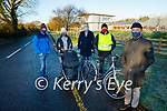 Killorglin residents campaigning for a footpath and cycling lane on the road in to Killorglin from Killarney. Front: Fergus Foley. Back l to r: Jeffery and Caroline Mahony, Cllr Michael Cahill and Billy Mahony
