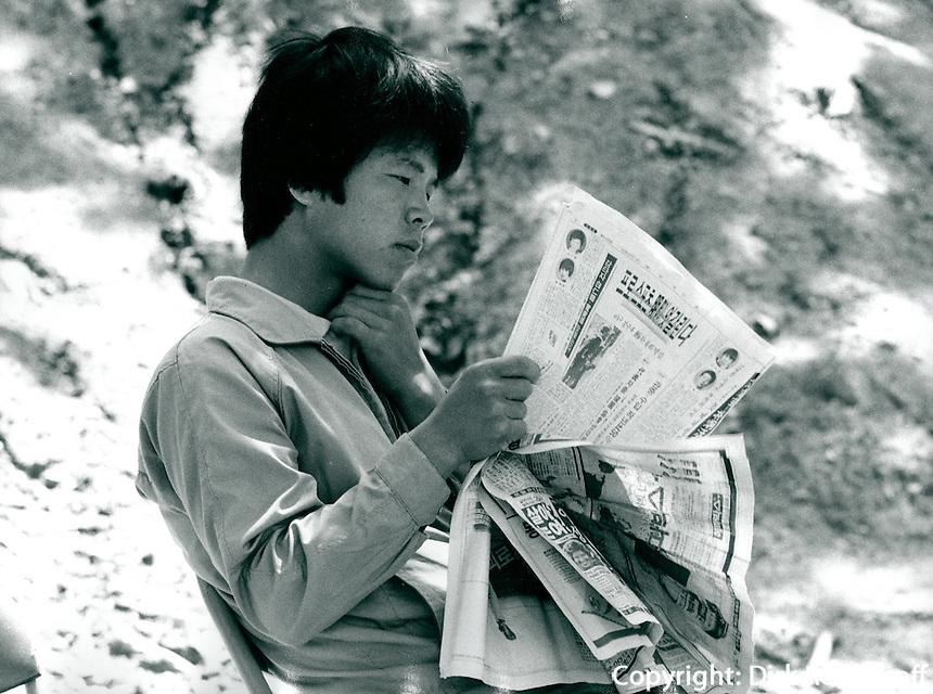 Student in Kwangju, Korea 1986